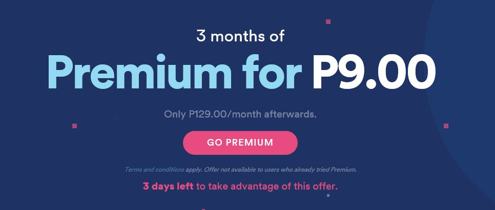 How to go premium on spotify